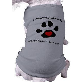Conception de délivrance de chien t-shirt pour chien