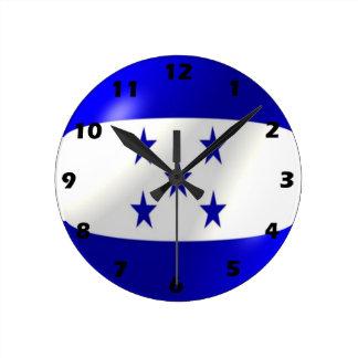 Conception de drapeau du Honduras Horloge Ronde
