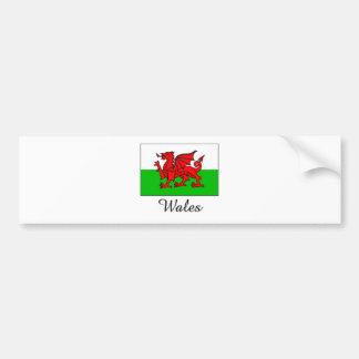 Conception de drapeau du Pays de Galles Autocollant De Voiture