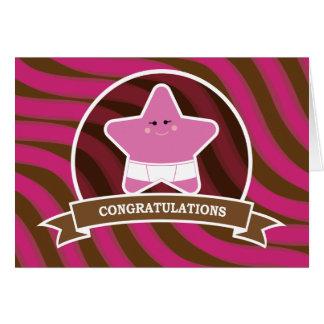 Conception de félicitations de bébé carte de vœux