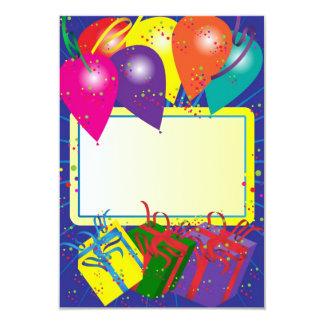 Conception de fête d'anniversaire carton d'invitation 8,89 cm x 12,70 cm