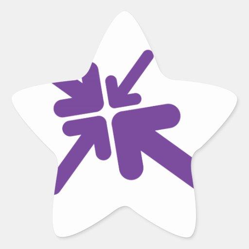 Conception de flèches autocollant en étoile