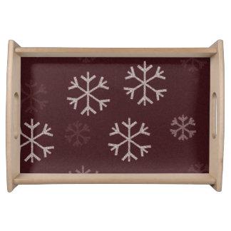 Conception de flocon de neige de plateau de Noël