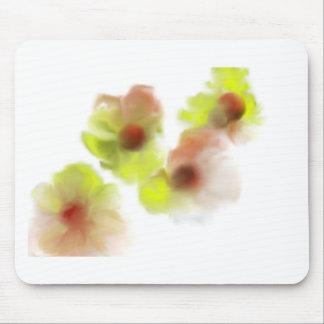 Conception de flottement de fleurs tapis de souris