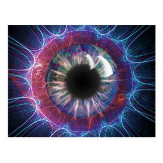 Conception de fractale de l'oeil de Tesla Carte Postale