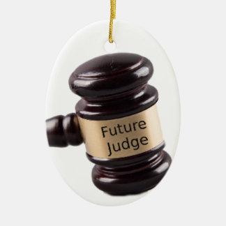 Conception de Gavel pour les juges et les avocats Ornement Ovale En Céramique