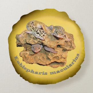 Conception de gecko de léopard pour tous ! coussins ronds