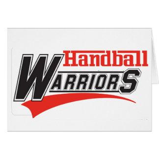 Conception de guerriers de handball carte de vœux
