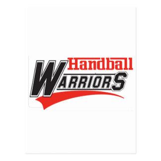 Conception de guerriers de handball cartes postales