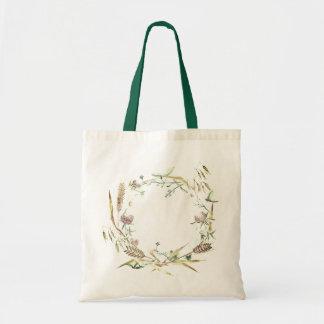 """Conception de """"guirlande de fleur sauvage"""" de sac"""