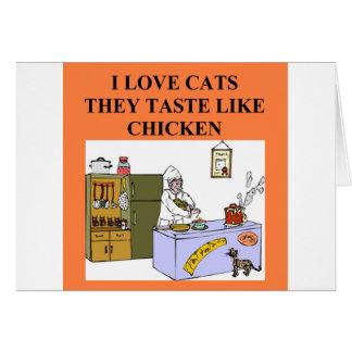 conception de haineux de chat cartes
