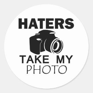 conception de haineux sticker rond