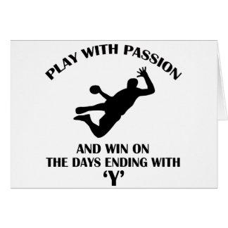 conception de handball cartes de vœux