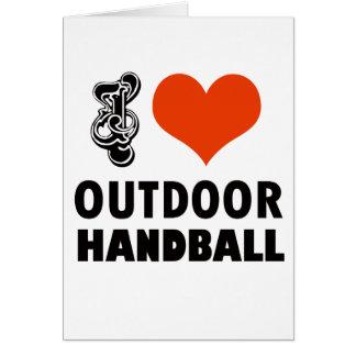Conception de handball carte de vœux