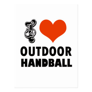 Conception de handball carte postale