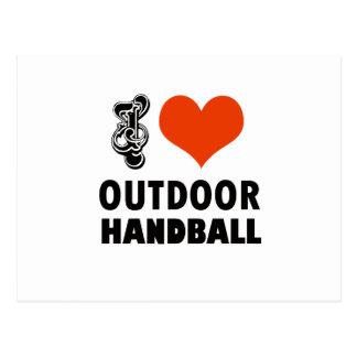 Conception de handball cartes postales