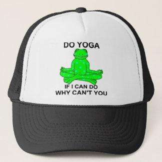 Conception de inspiration de grenouille de yoga casquette