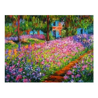 Conception de jardin d'iris de Monet avec Carte Postale