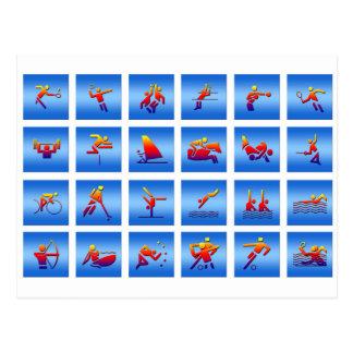 Conception de jeux carte postale