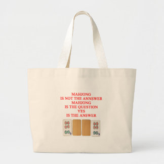 conception de joueur de mahjong grand sac
