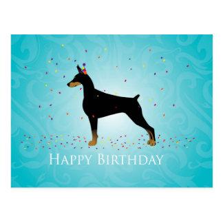 Conception de joyeux anniversaire de Pinscher de Carte Postale