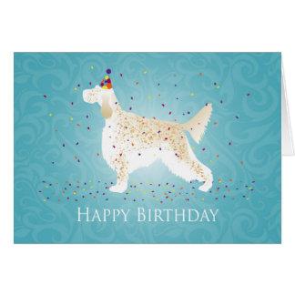 Conception de joyeux anniversaire de poseur carte de vœux