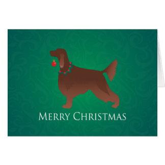 Conception de Joyeux Noël de chien de poseur Cartes