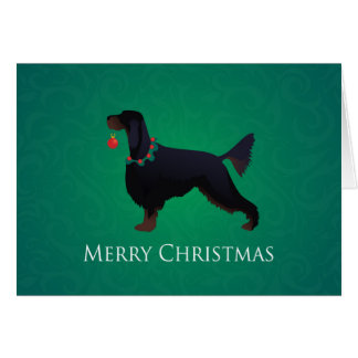 Conception de Joyeux Noël de poseur de Gordon Carte De Vœux