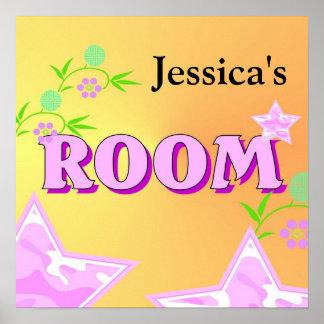 Conception de la chambre à coucher de la fille posters