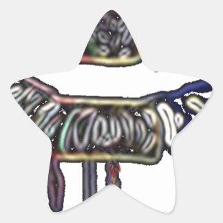 Conception de lèvres d'arc-en-ciel sticker étoile