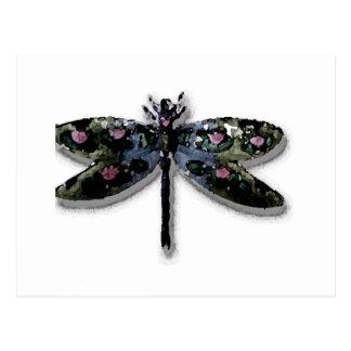 Conception de libellule cartes postales