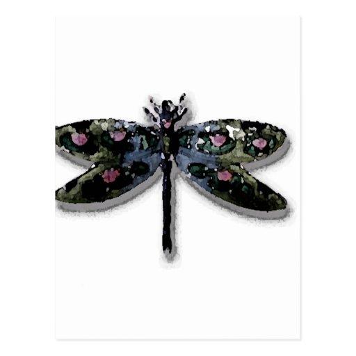 Conception de libellule carte postale