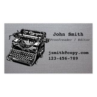 Conception de machine à écrire de correcteur carte de visite