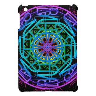Conception de mandala de lampes au néon coques pour iPad mini
