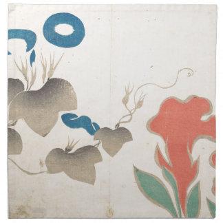 Conception de Matin-gloire et d'autres fleurs Serviettes Imprimées