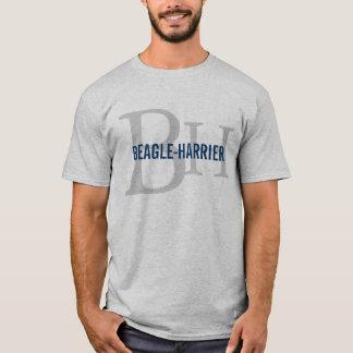 Conception de monogramme de race de Beagle-Harrier T-shirt