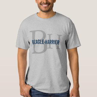 Conception de monogramme de race de Beagle-Harrier T-shirts