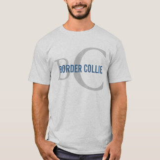 Conception de monogramme de race de border collie t-shirt