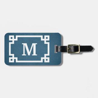 Conception de monogramme étiquette à bagage