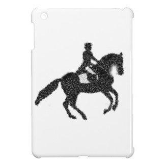 Conception de mosaïque de cheval et de cavalier de coque iPad mini