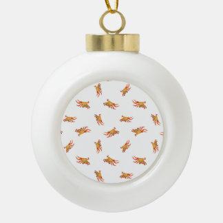 Conception de motif de collage de photo de crabes boule en céramique