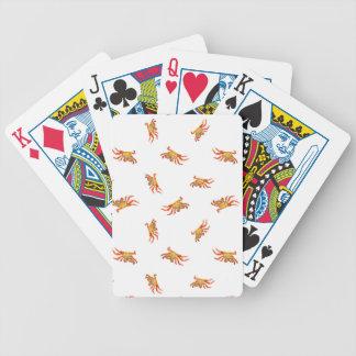 Conception de motif de collage de photo de crabes jeu de cartes