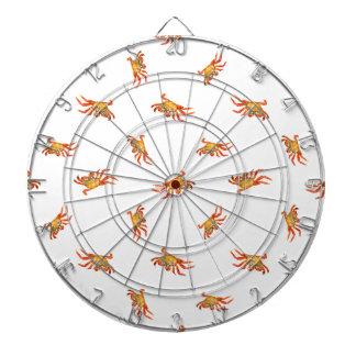 Conception de motif de collage de photo de crabes jeu de fléchettes