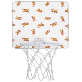 Conception de motif de collage de photo de crabes mini-panier de basket