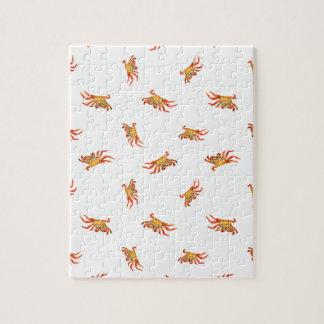 Conception de motif de collage de photo de crabes puzzles