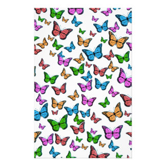 Conception de motif de papillons papeterie