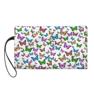Conception de motif de papillons pochettes avec dragonne