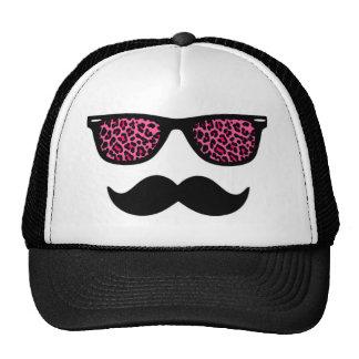 Conception de moustache de léopard de roses indien casquette