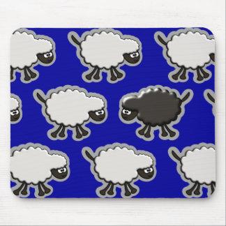 Conception de moutons noirs tapis de souris