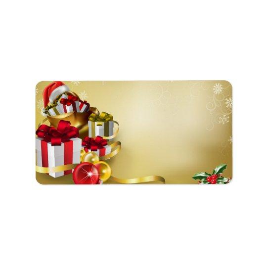 Conception de Noël Étiquette D'adresse